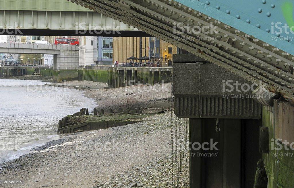 Thames riverbank stock photo