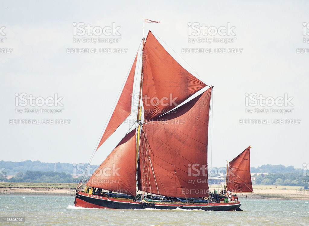 Thames sailing barge stock photo