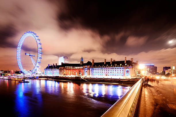 Thames view, Westminster Bridge stock photo