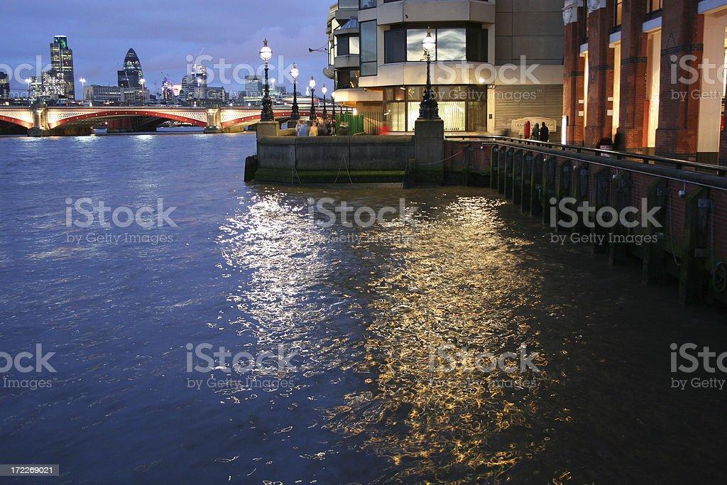 ThamesAtNight royalty-free stock photo