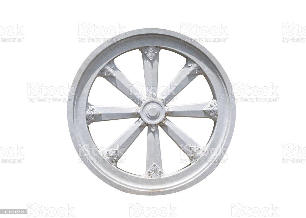 Thammachak Stone Wheel Karma Symbol Of Buddhism Stock Photo More