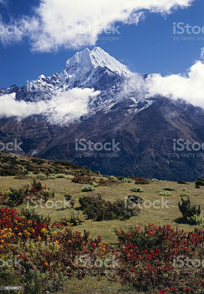 Thamserku in the Himalayas. royalty-free stock photo