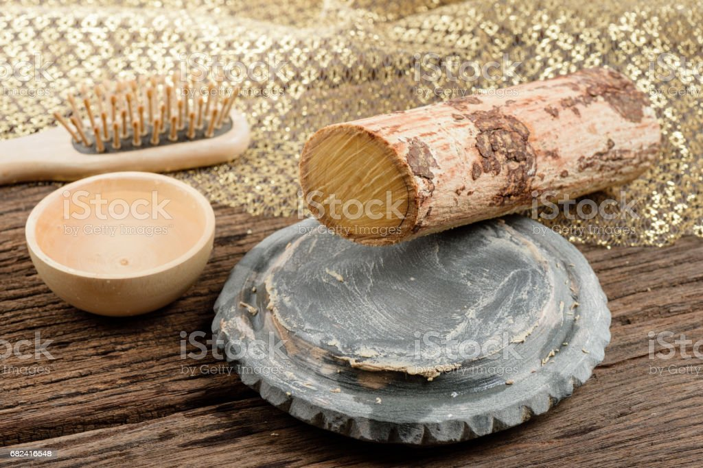thanaka for beauty royalty-free stock photo