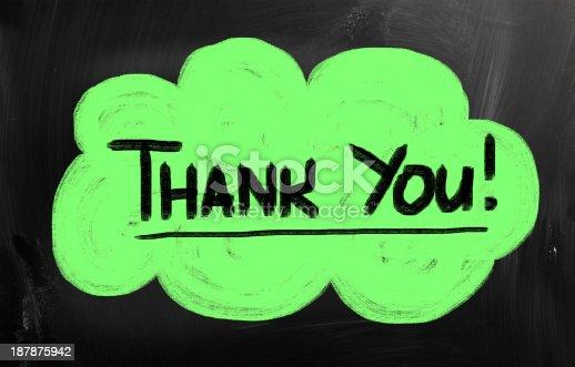 istock Thank you blackboard sign 187875942