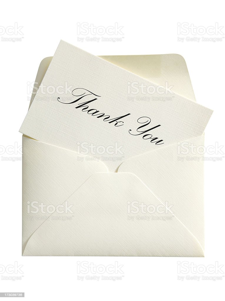Thank You Card & Envelope with Clipping Path royalty-free stock photo