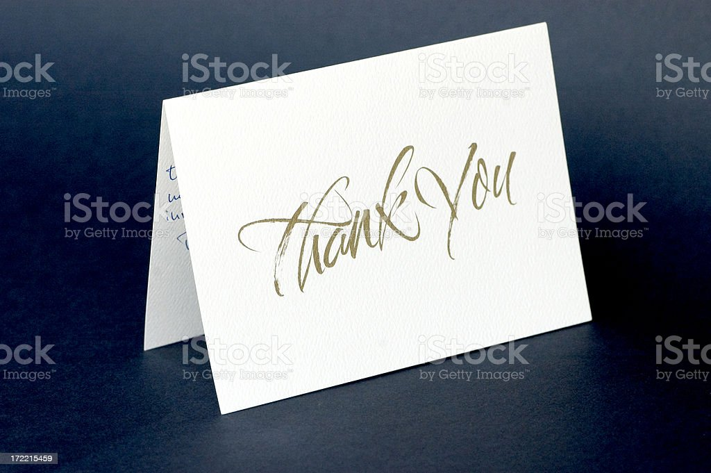 Thank you card royalty-free stock photo
