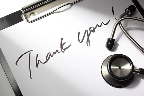 merci médecin - admiration photos et images de collection