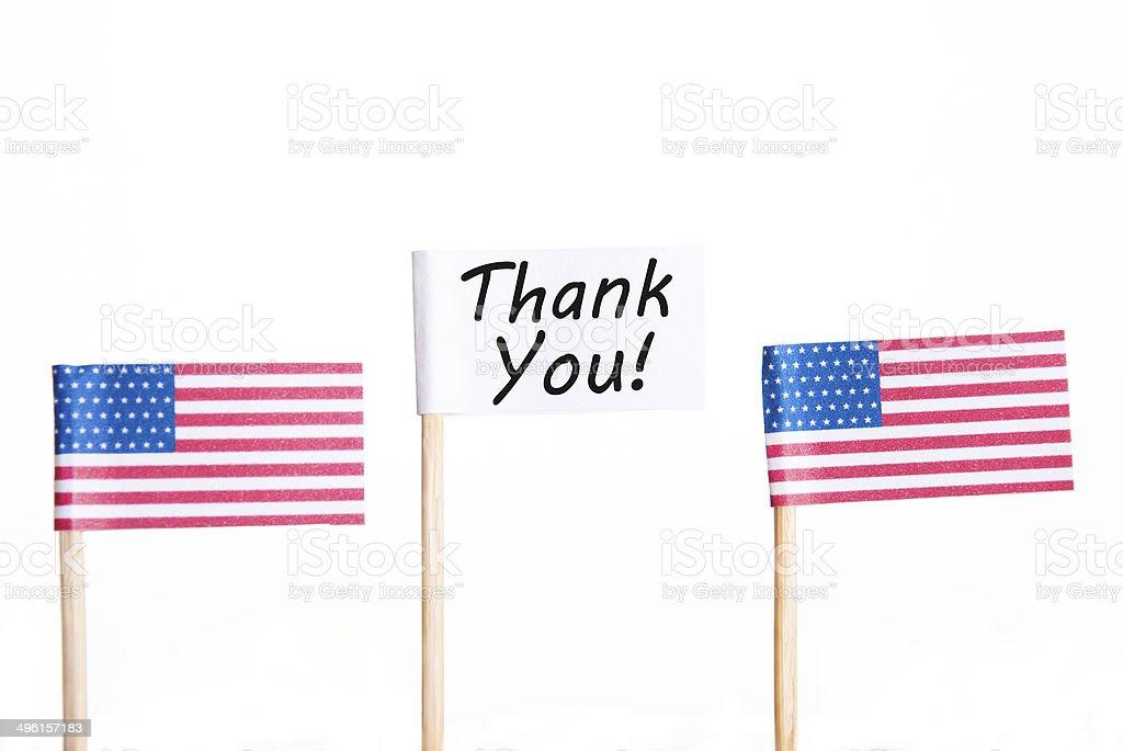 Thank You Flag royalty-free stock photo
