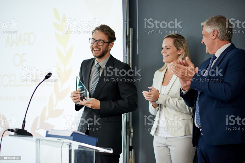 Thank you for honoring me today stock photo