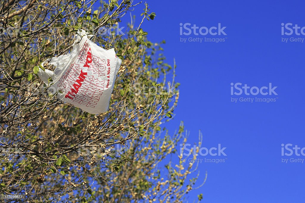 Thank you for not littering stock photo