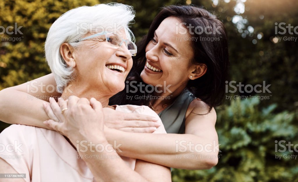 Thank you for showing me the real meaning of love stock photo