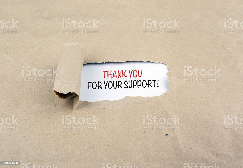 Thank you For Your Support! stock photo