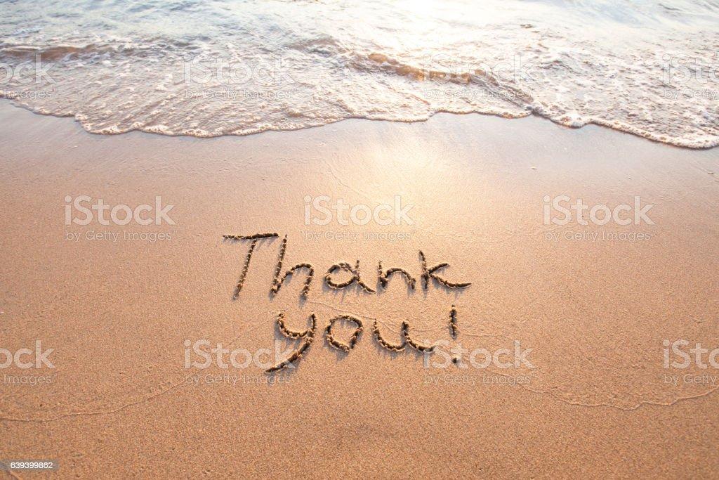 thank you, gratitude concept, beautiful card stock photo