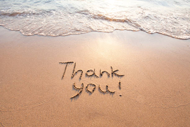 thank you, gratitude concept, beautiful card - wave icon stock photos and pictures