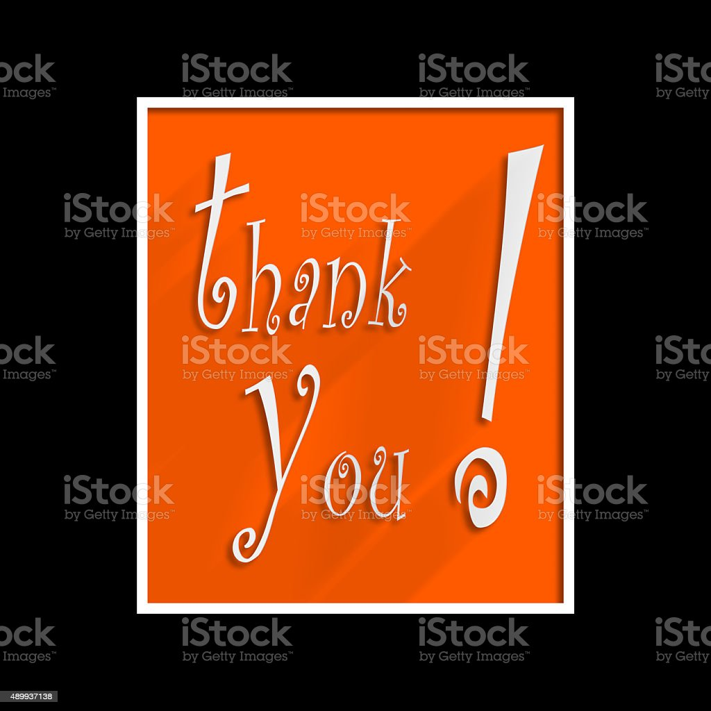 Thank You Hand lettering Greeting Card. stock photo