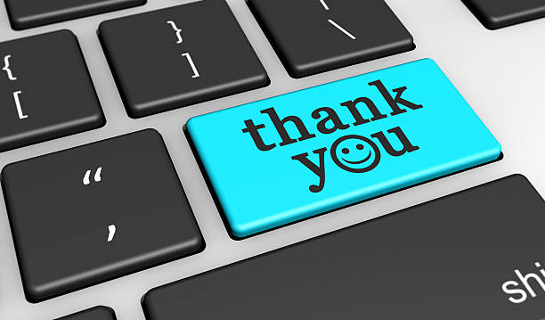 Thank You Happy Message Computer Key – Foto