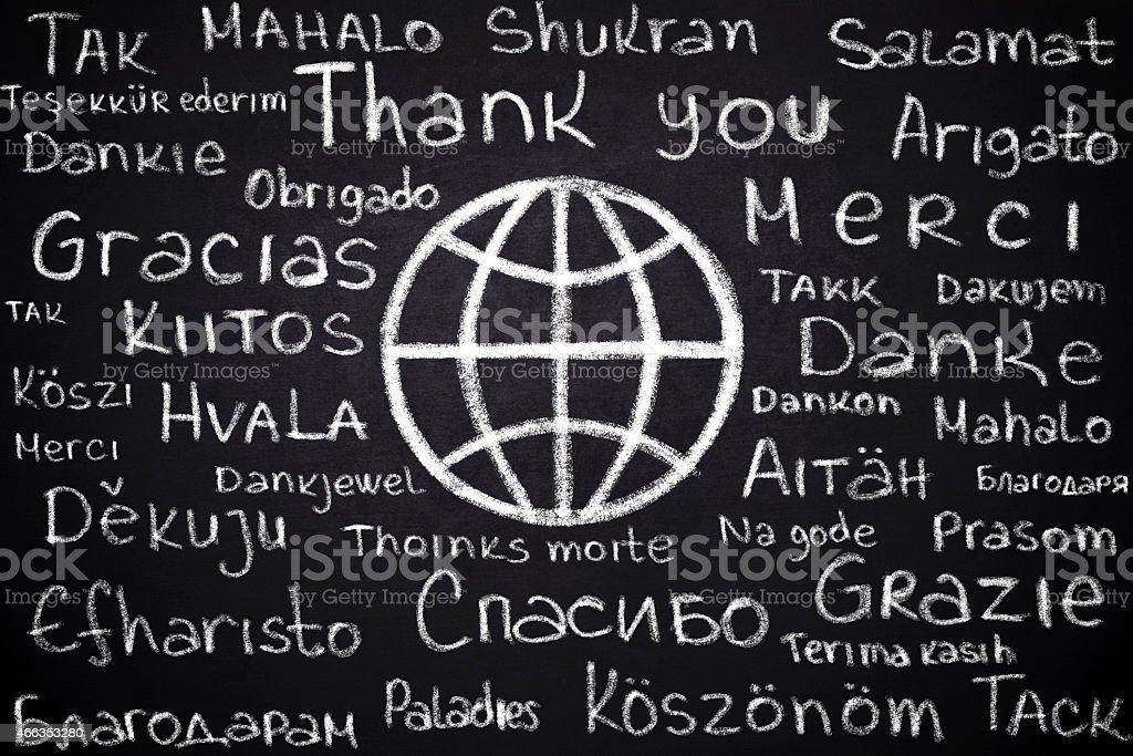 異なる言語をありがとうございました。 ストックフォト