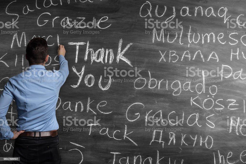 Danke in verschiedenen Sprachen – Foto