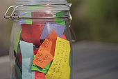 istock Thank you jar with message 'give the best hugs' 1226081059