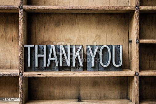 513601840 istock photo Thank You Letterpress Type in Drawer 464627096