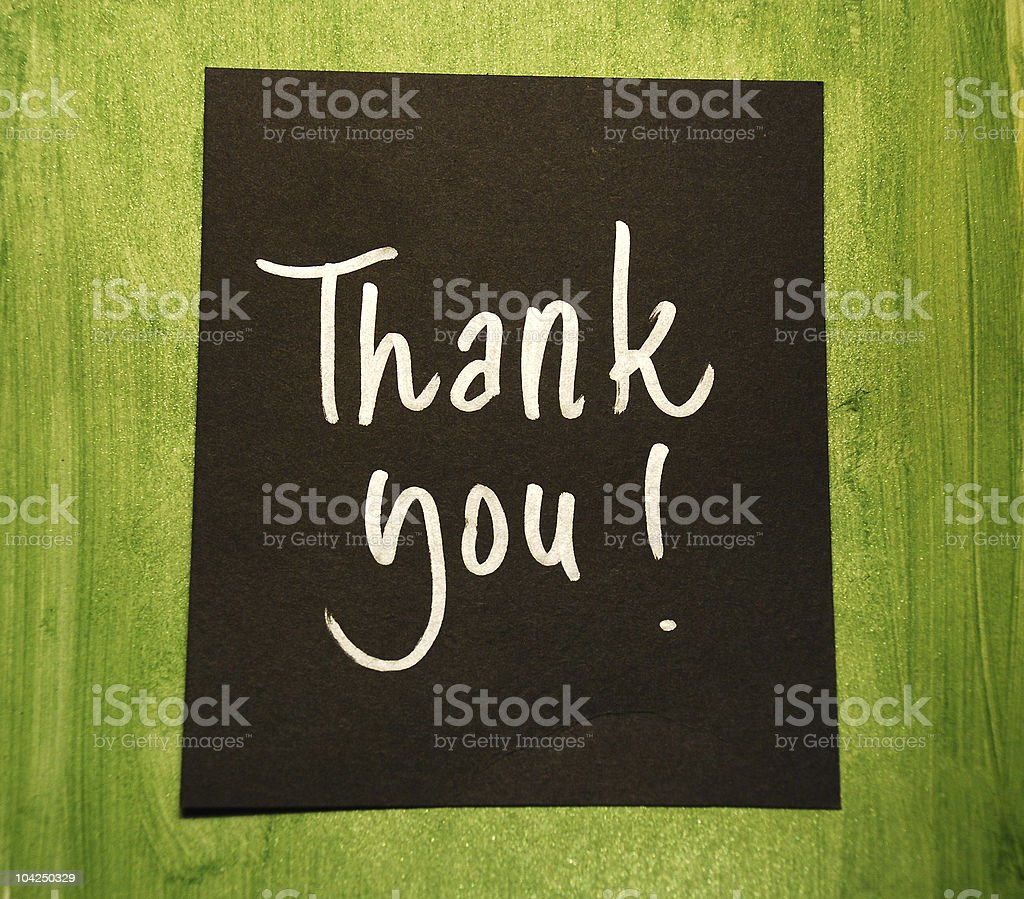 thank you message royalty-free stock photo