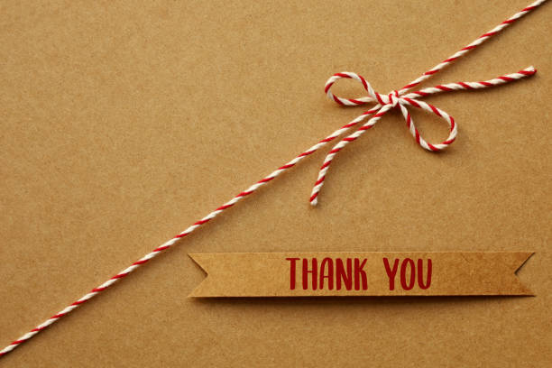 Thank you message stock photo