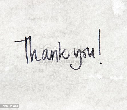 1050881964 istock photo Thank you message 536012441