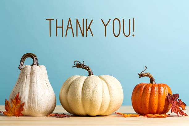 Thank you message with pumpkins