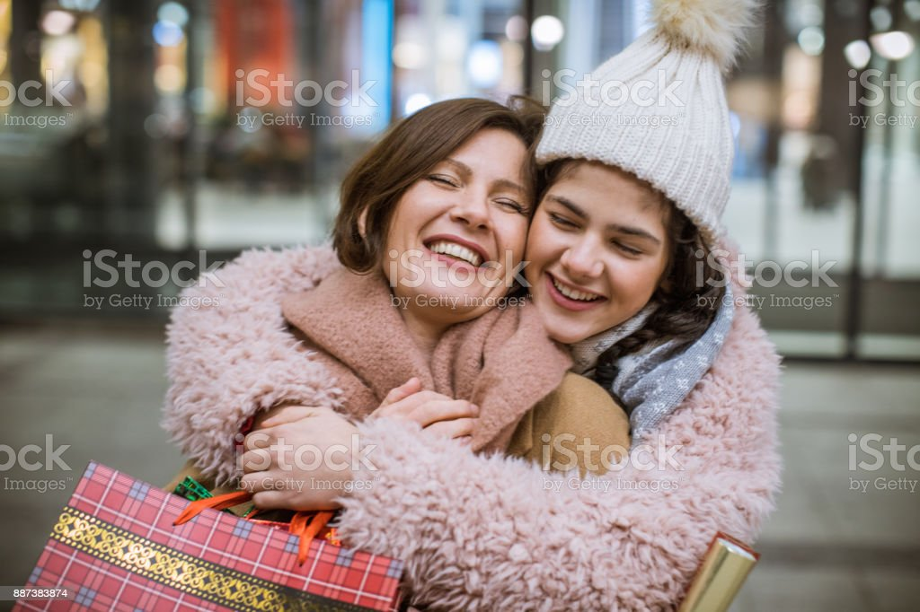 Thank you mom for present stock photo
