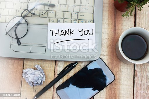 1068057246 istock photo Thank You, Motivational Words Quotes Concept 1068064004