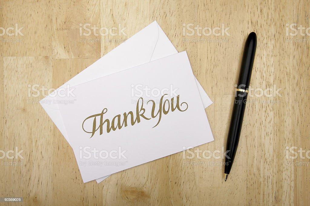 Thank You Note Card stock photo