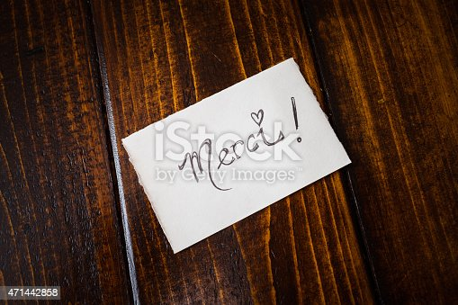 1050881964 istock photo Thank You note in French on a Table 471442858