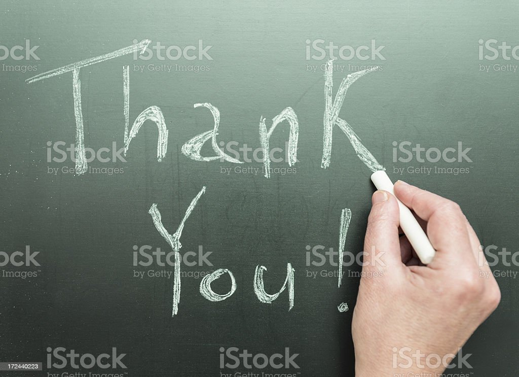 Thank You on black Blackboard royalty-free stock photo
