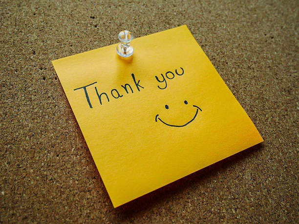 Royalty free thank you note pictures images and stock photos istock thank you on post it note stock photo voltagebd Choice Image