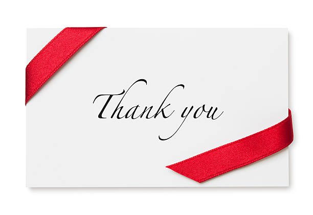 thank you - gift tag note stock photos and pictures