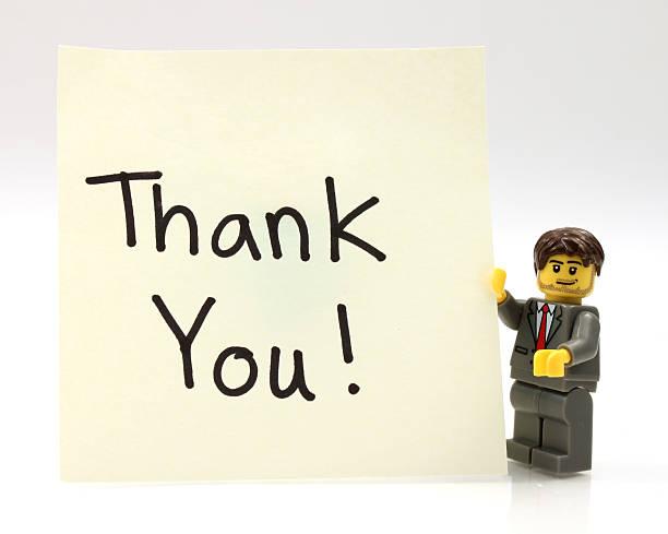 muito obrigado! - lego imagens e fotografias de stock