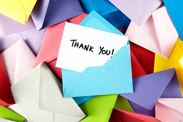 thank you - note message stock photos and pictures