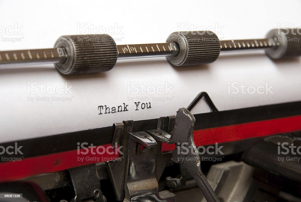 thank you royalty-free stock photo