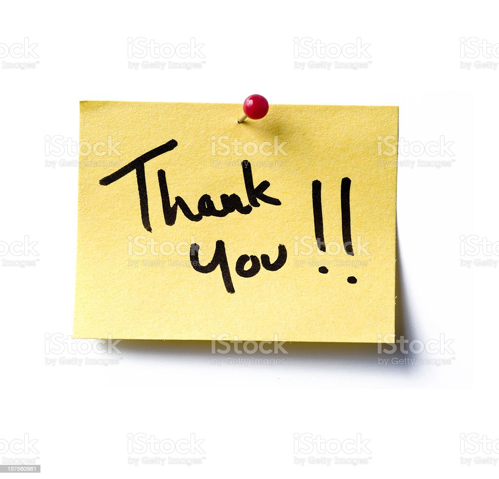 Thank You! post-it royalty-free stock photo