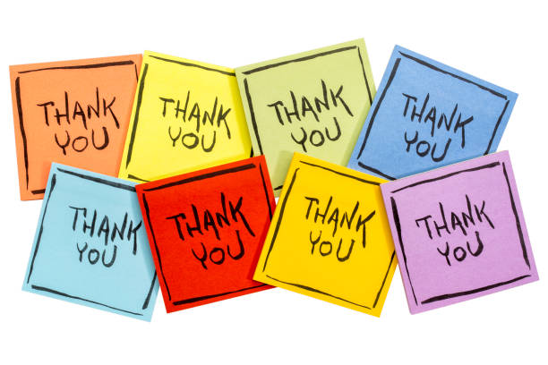thank you sticky note abstract - thank you stock pictures, royalty-free photos & images