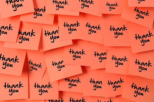 Thank you sticky note with Living Colar Color