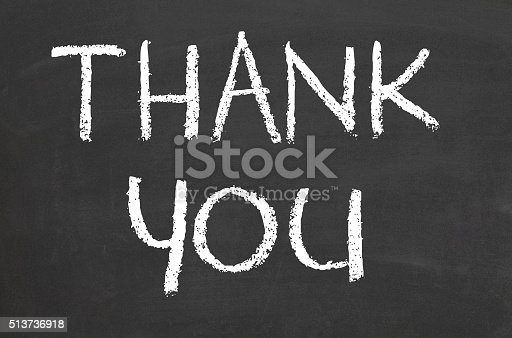 istock Thank you text on a chalkboard 513736918