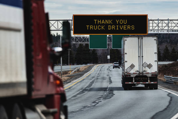 Thank You Truck Drivers stock photo