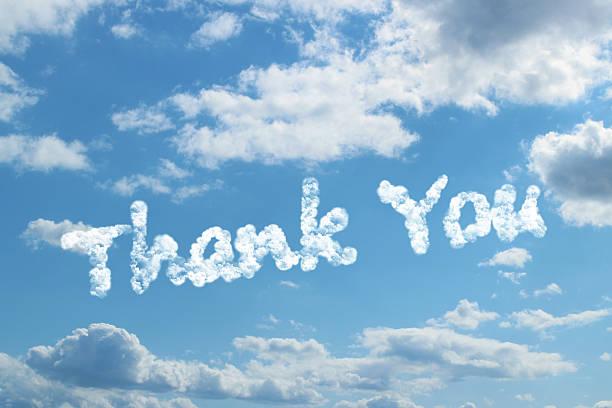 thank you word concept on cloud - thank you background stok fotoğraflar ve resimler