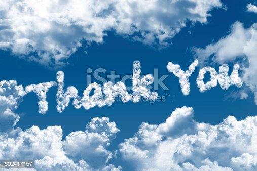 513601840 istock photo Thank you word on cloud 502417157