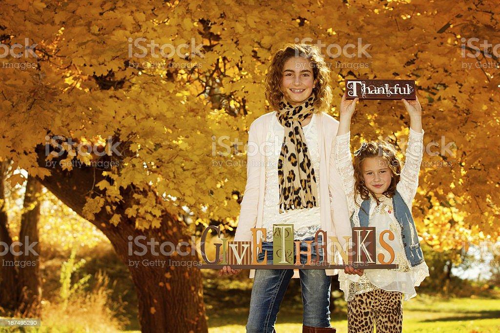 Thankful royalty-free stock photo