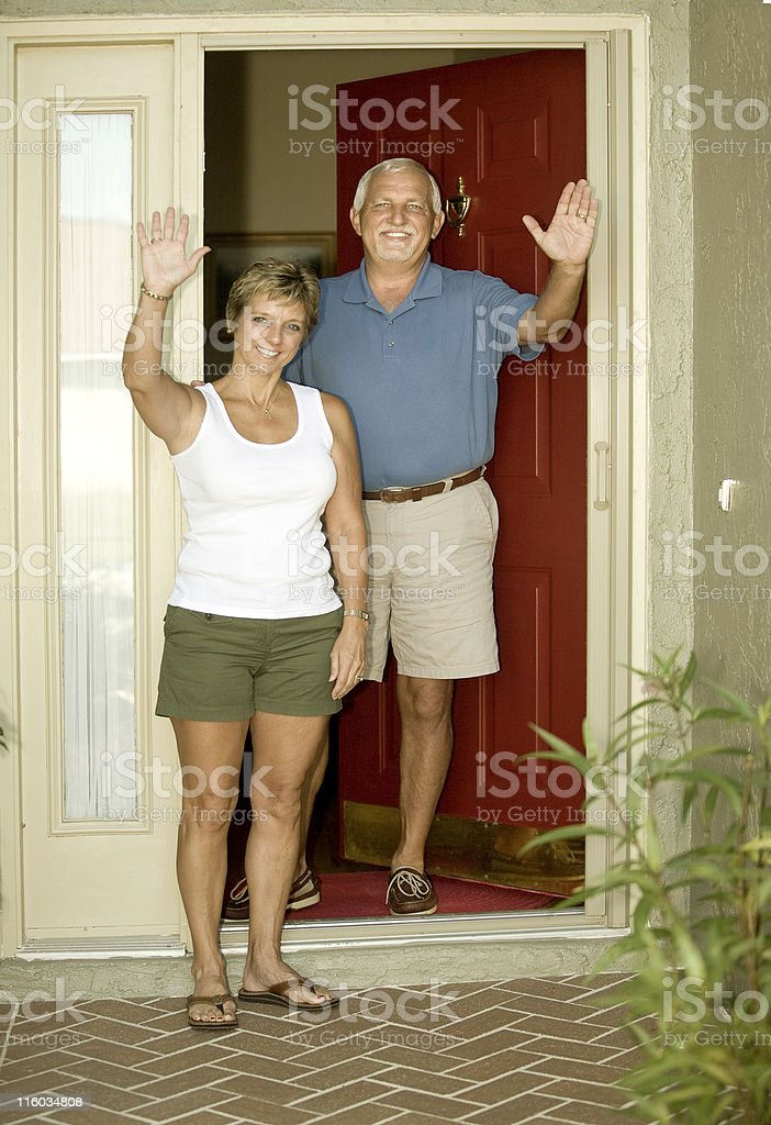 Thank's For Coming royalty-free stock photo