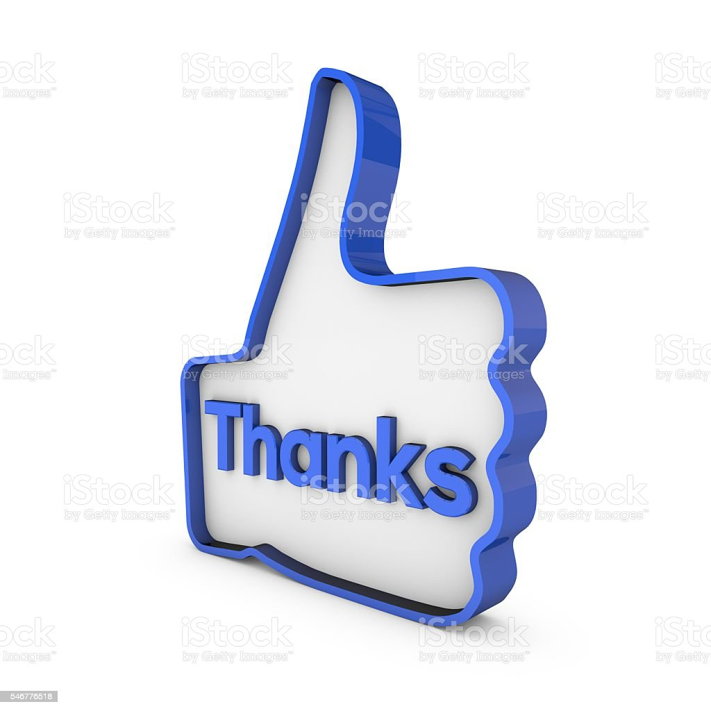 Thanks Thumbs Up 3d Symbol Stock Photo More Pictures Of Blue Istock