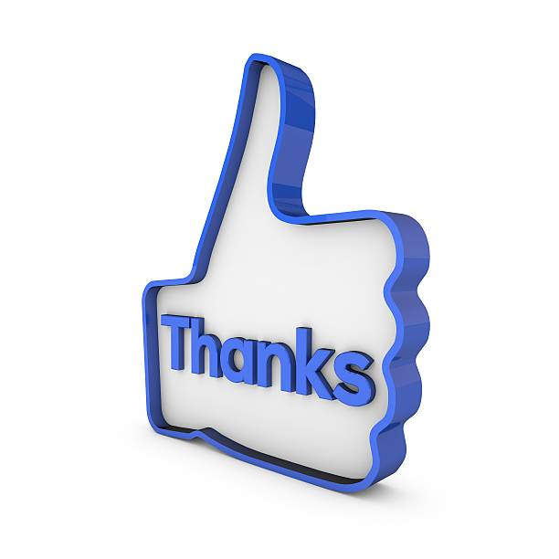 thanks thumbs up 3d symbol stock photo