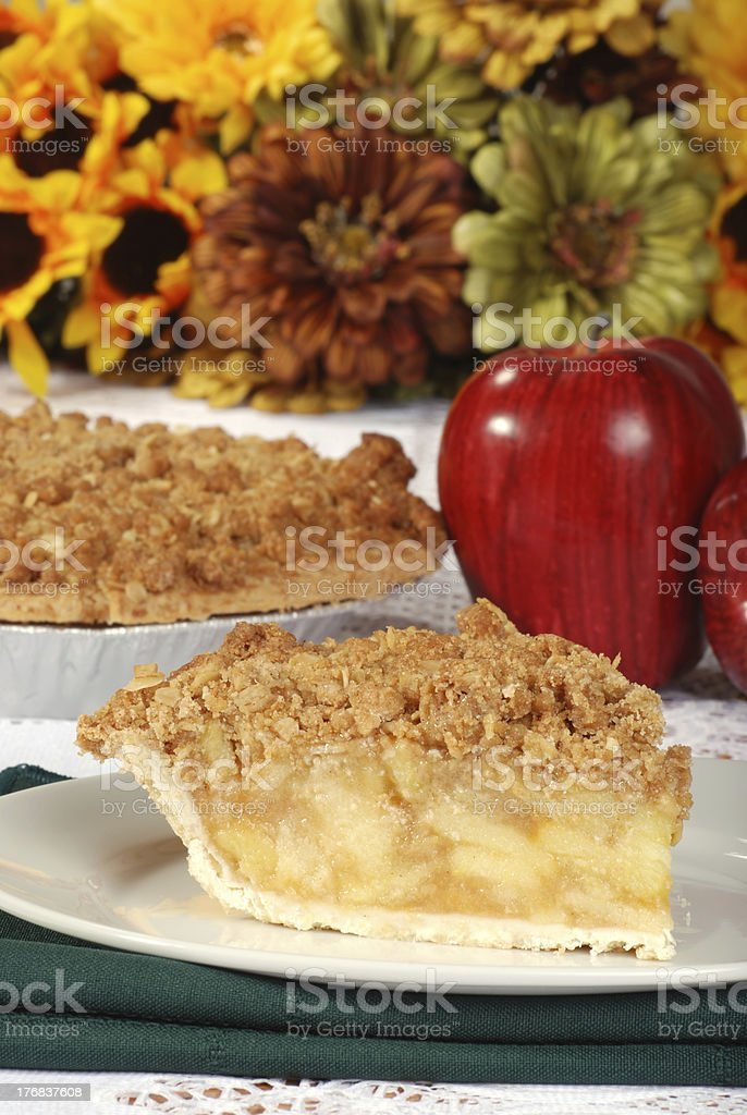 thanksgiving apple crumble royalty-free stock photo
